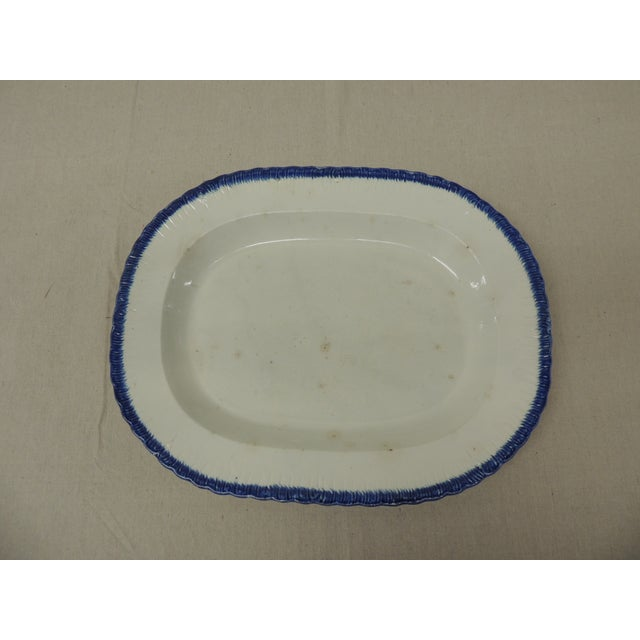 Antique Blue & White Ironstone English Platter - Image 2 of 5