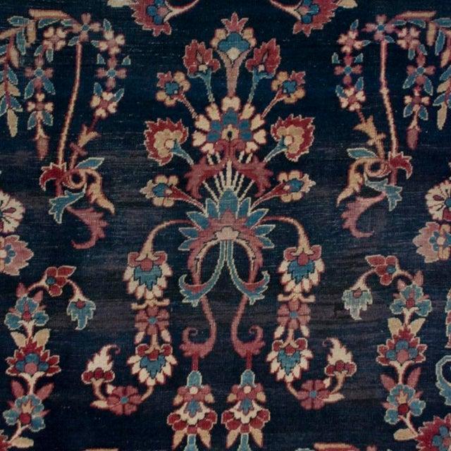 Islamic 19th Century Yadz Carpet - 8′7″ × 11′ For Sale - Image 3 of 6