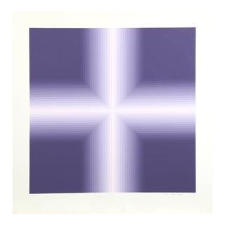 "Babe Shapiro, ""Purple v. 1"", Optical Art Screenprint For Sale"