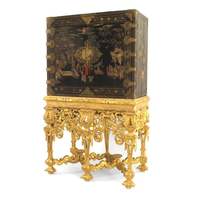 17th Century Chinese Coromandel Cabinet on a Charles II Gilt-Wood Stand For Sale - Image 12 of 12