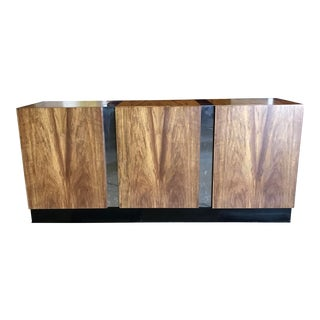 Rosewood and Chrome Buffet by Milo Boughman for Thayer Coggin For Sale