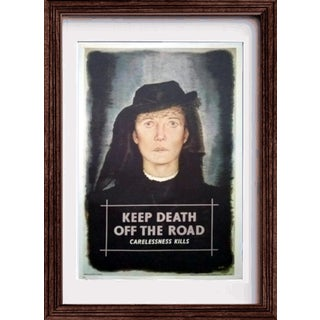 "1972 W. Little ""Keep Death Off the Road / Carelessness Kills"" Poster For Sale"