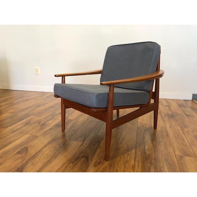Danish Modern Grete Jalk Danish Teak Lounge Chair For Sale - Image 3 of 13