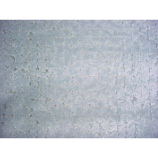 Contemporary Stroheim Sycan Ice Blue Jacquard Velvet Drapery Upholstery Fabric - 8-1/2y For Sale