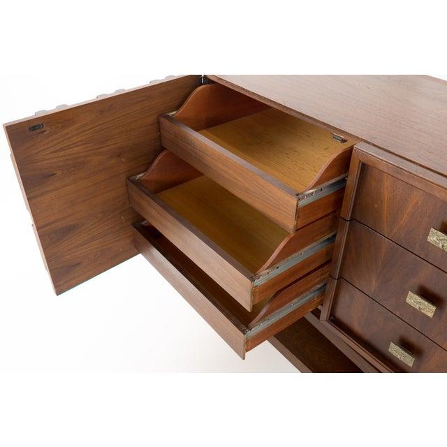 20th Century Brutalist Pedestal Lowboy Dresser For Sale In Chicago - Image 6 of 12