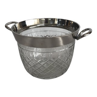 Cut Crystal Champagne Ice Bucket For Sale