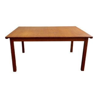 1960s Danish Modern Johannes Aasbjerg Dining Table With 2 Leaves For Sale