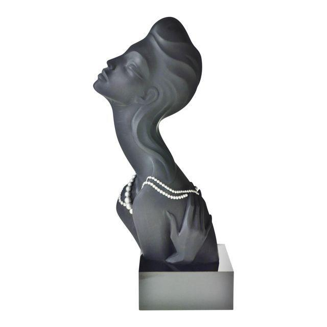 Vintage 1990 Austin Productions Alexander Danel Pearls Sculpture of Woman - Rare For Sale - Image 13 of 13