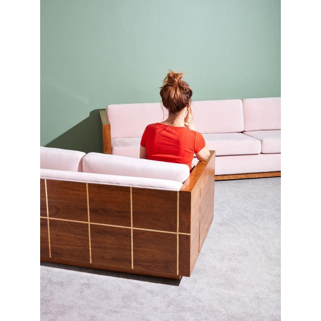 Textile Vintage 1970s Wood Cased Sofa For Sale - Image 7 of 8