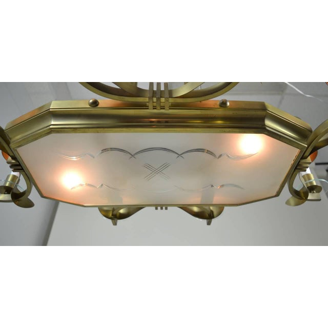 Art Deco Large Art Deco Style Modernist Chandelier For Sale - Image 3 of 11