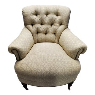 Ferrell Mittman Tufted Lounge Chair For Sale