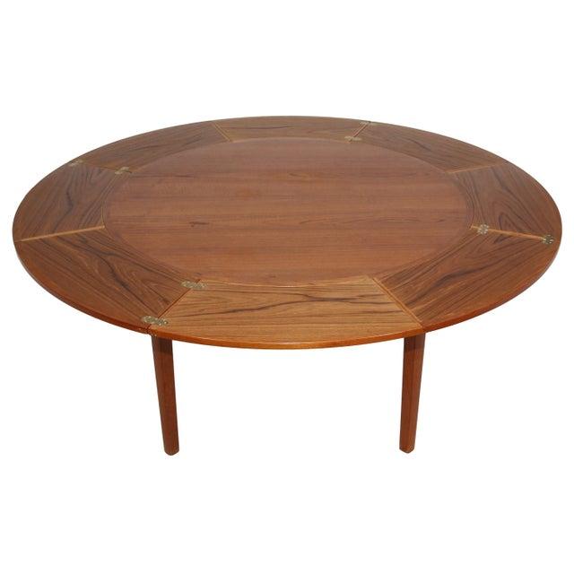 "Dyrlund Dyrlund ""Flip-Flap"" Lotus Dining Table For Sale - Image 4 of 10"