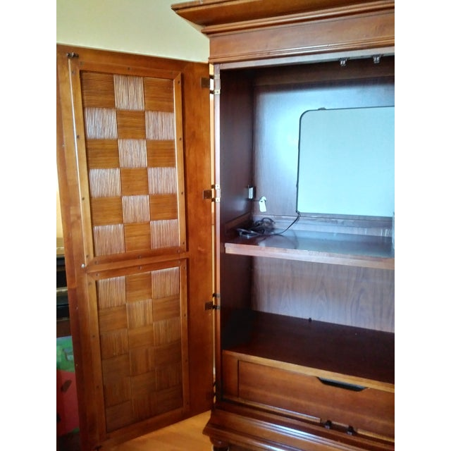 Stanley Furniture Wooden Armoire - Image 5 of 9