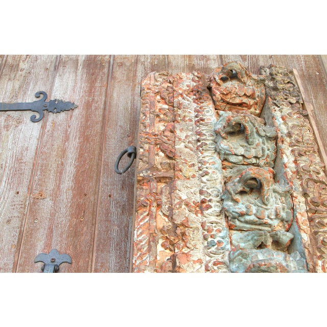Stunning Tribal Architectural Carved Beam For Sale - Image 10 of 12