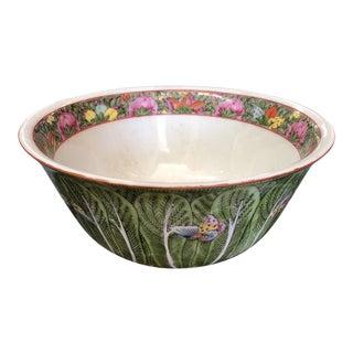 Vintage Japanese Botanical Bowl For Sale