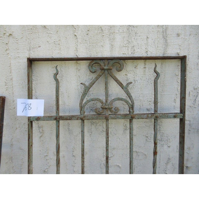 Victorian Antique Victorian Iron Gate or Garden Fence For Sale - Image 3 of 6