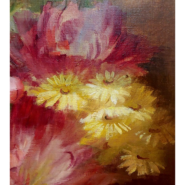 1900 - 1909 Florine Hyer - Beautiful Still Life of Flowers - Oil Painting -C1900 For Sale - Image 5 of 9