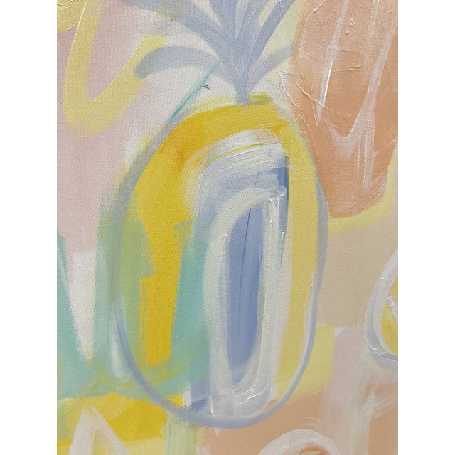 """Christina Longoria """"Pineapple Punch"""" Contemporary Painting For Sale - Image 4 of 5"""