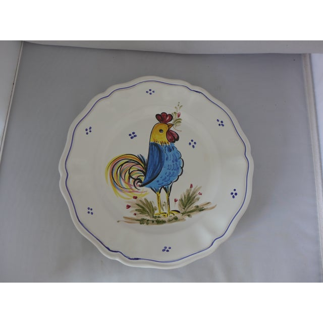 Decorative Italian Ceramic Plate With Rooster For Sale In New York - Image 6 of 9