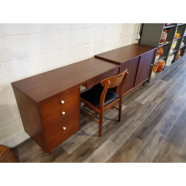Mid-Century Modern Desk & Credenza - A Pair For Sale - Image 9 of 13