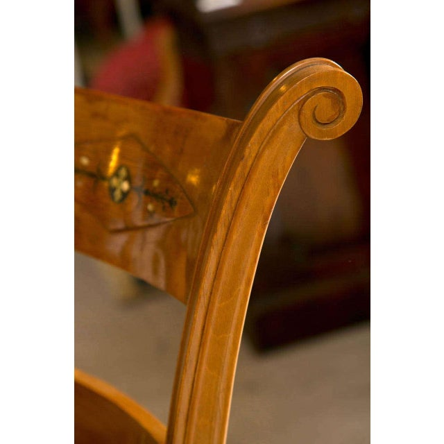 Set Six Biedermeier Style Side Chairs Dining Chairs With Ebony Inlay Can Buy One - Image 5 of 9