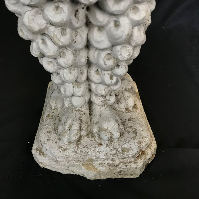 White 1920s Dog Lovers' Life Sized Stone French Poodle Sculpture Statue For Sale - Image 8 of 13