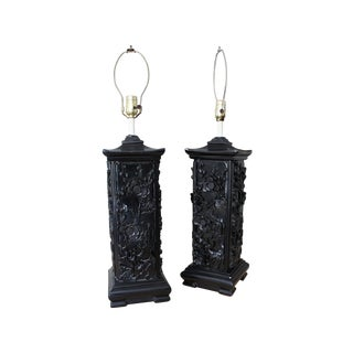 Asian Pagoda Lamps - A Pair