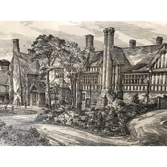 White 1893 Warnham Lodge Architectural Drawing For Sale - Image 8 of 12
