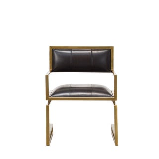 Early 21st Century Contemporary Black Leather Arm Chair