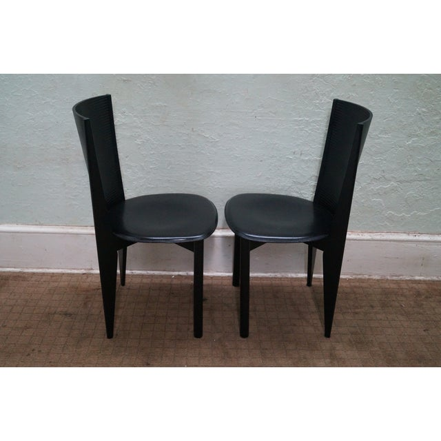 Calligaris Black Italian Dining Chairs - Set of 4 - Image 3 of 10
