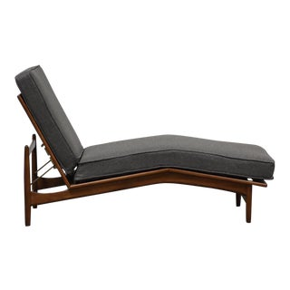 Ib Kofod Larsen for Selig Danish Chaise Lounge Chair For Sale