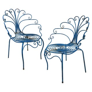French Mid-Century Peacock Chairs - A Pair