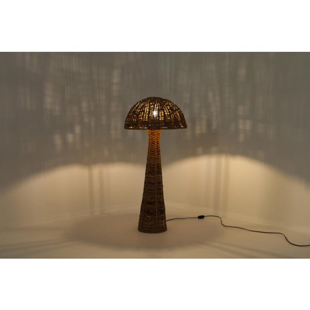 1970s Gabriella Crespi Style Floor Lamp in True Tropicalist Style For Sale - Image 5 of 9