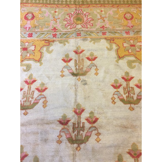 Early 20th Century Antique Turkish Oushak Rug For Sale - Image 5 of 7