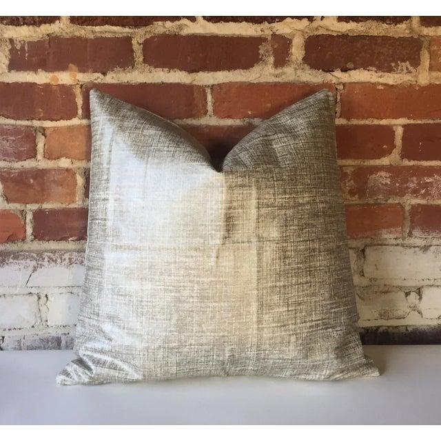 Platinum Metallic Linen Pillow Cover - Image 2 of 5