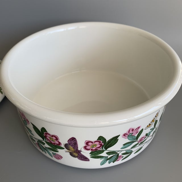 Early 21st Century English Portmeirion Botanic Garden Rhododendron Covered Casserole Tureen For Sale - Image 5 of 12