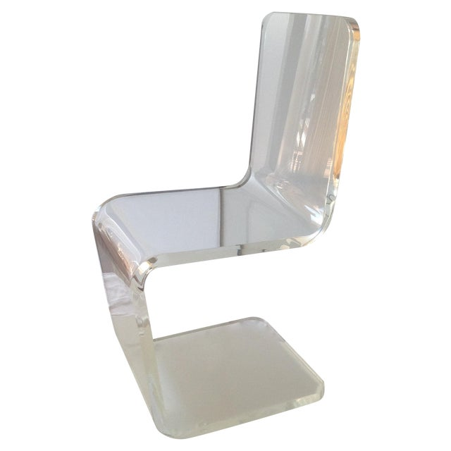 Vintage Lucite Sculptural Accent Chair For Sale