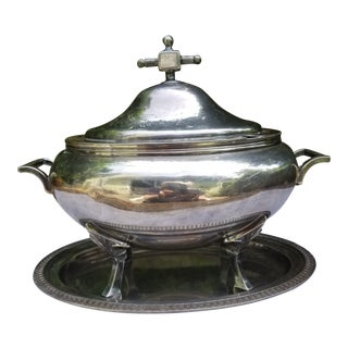Art Deco Silver Plate Tureen For Sale
