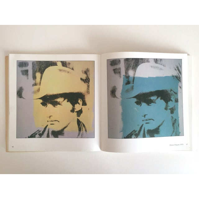 """This vintage 1979 rare first edition """" Warhol portraits of the 70's """" iconic collector's softcover art book features a..."""