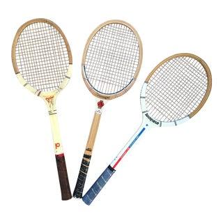 Vintage Tennis Rackets- Set of 3 For Sale