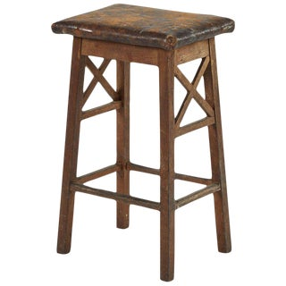 Rustic Wood Stool For Sale