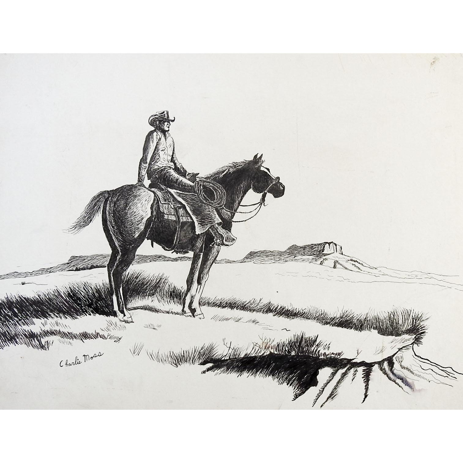 Brown Stallion Cowboy Horse with Saddle Desk or Table Lamp