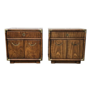 Drexel Heritage Accolade Campaign Nightstands - a Pair