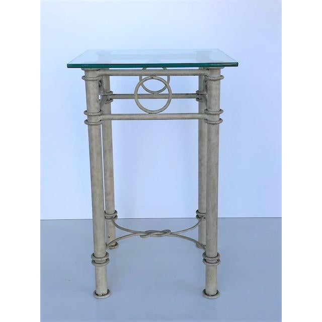John Dickinson Vintage Dickinson Style Knotted Metal Pedestal For Sale - Image 4 of 9