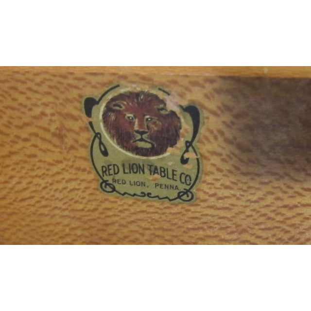 1940s Paul Frankl Style Red Lion Gentlemens Chest - Image 6 of 6