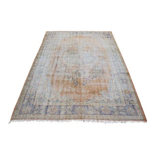 "Vintage Natural Hand Woven Handmade Rug - 5'7"" x 8'3"" For Sale"