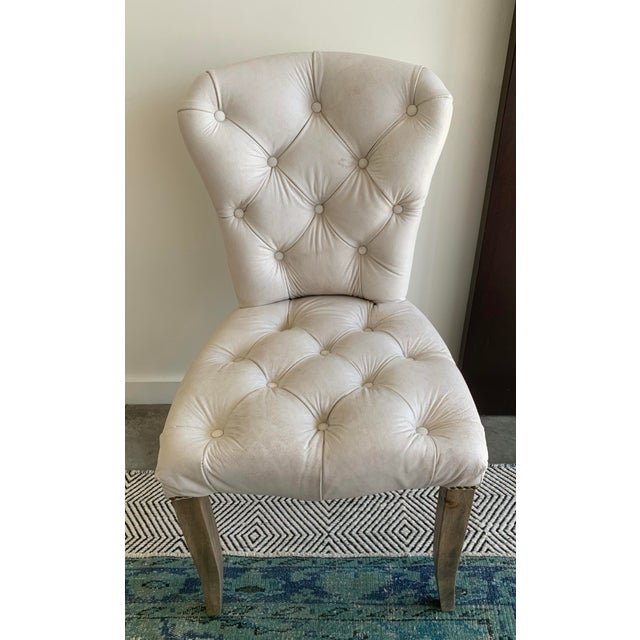CHESTER DINING CHAIRS by Timothy Oulton's HALO (2) - Tufted Leather - Nailhead trim - Material: Uncorrected Aniline...