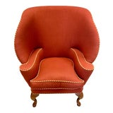 Image of Minton Spidell Papa Bear Upholstered Chair Sculptural Wingback Chair For Sale
