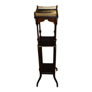 Antique French Directoire Three Tier Mahogany Plant Stand For Sale
