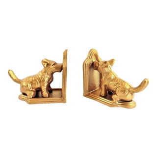 Scottish Terrier Dog Bookends - A Pair